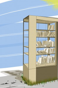 Ein Bücherschrank für´s Plätzchen!